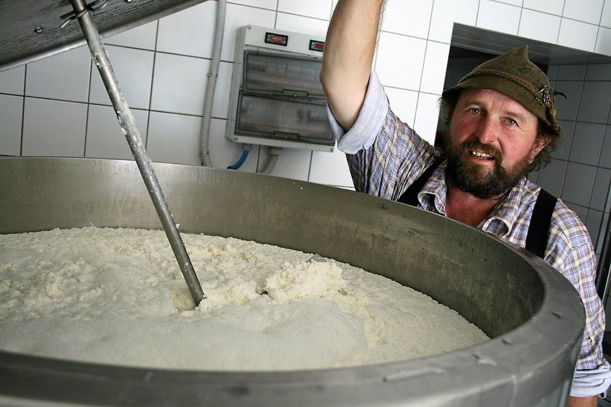Milchprodukte von der Feldernalm. (Foto: knut Kuckel)