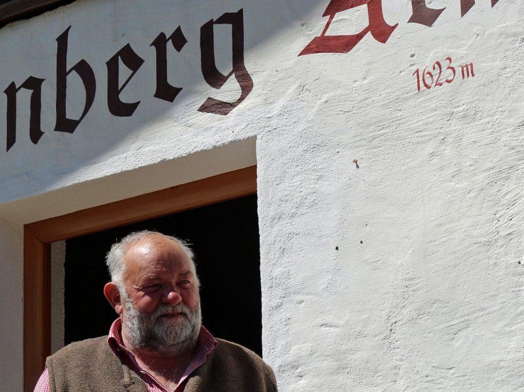 Herbert Schuchter - 40 Jahre Almhirt der Marienbergalpe (Foto: Knut Kuckel)