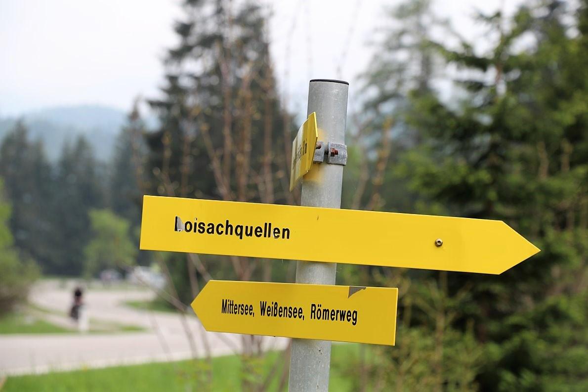 Im Süden von unserem Treffpunkt gehts zu den Loisachquellen, auf der Seenroute zum Blind-, Weissen- und Mittersee. (Foto: Knut Kuckel)