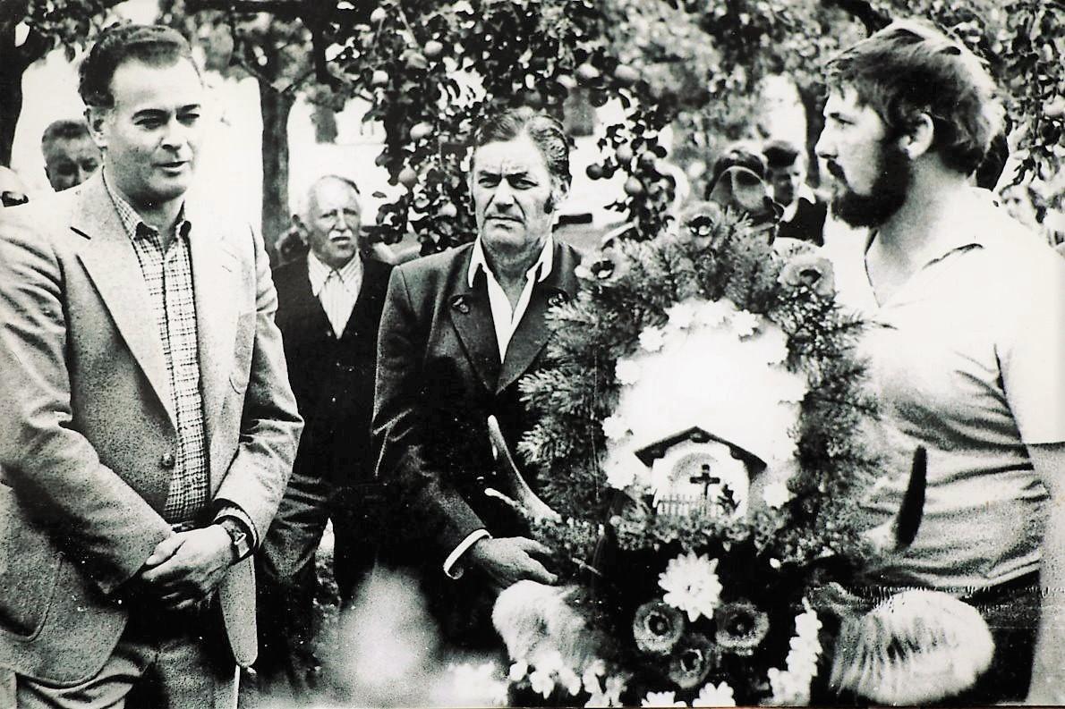 """Benedikt Wallnöfer, Johann Haid, Max Pirpamer sen., Franz Jordan (""""Brecher-Franz""""). (Foto: Gerda Pirpamer)"""