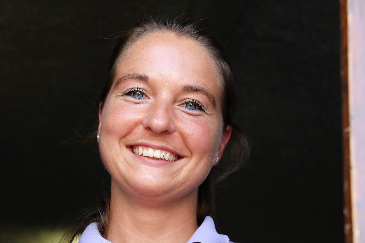 Sandra Wiggins, Tochter der Almpächter. (Foto: Knut Kuckel)